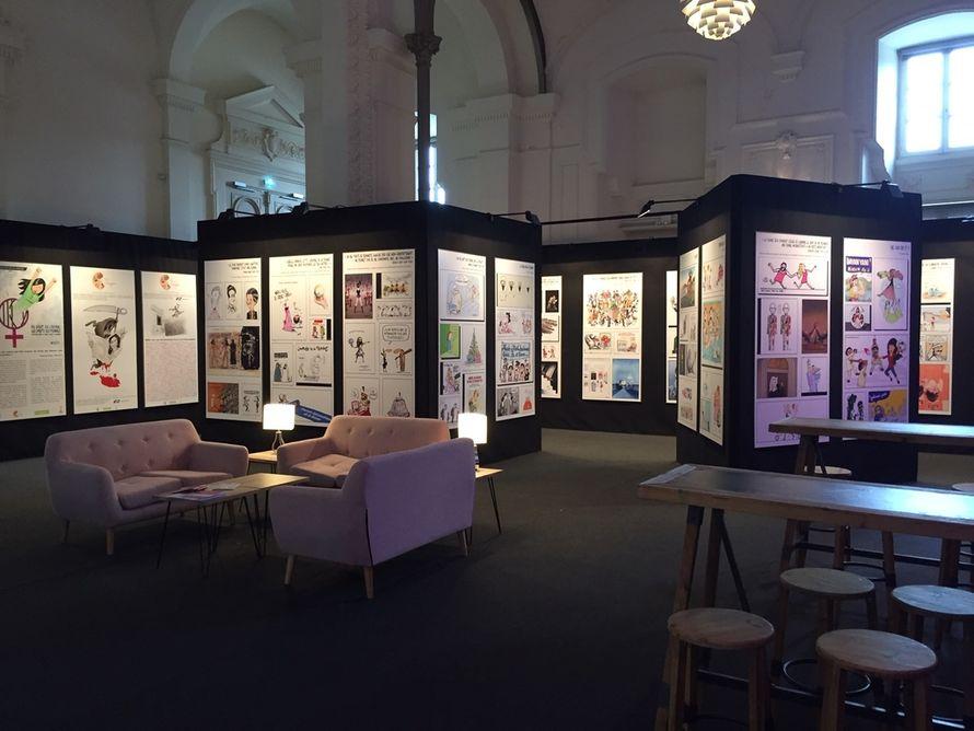 ation de l'exposition au Forum Mondial de la Démocratie, Strasbourg, salle de l'Aubette, 14-21 novembre 2018