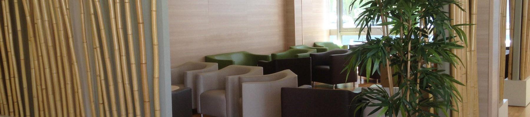 salle détente bamboo